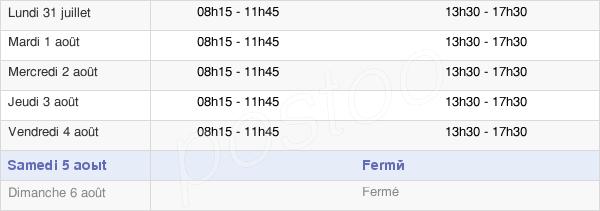 horaires d'ouverture de la Mairie D'Uxegney