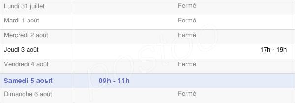 horaires d'ouverture de la Mairie De Saint-Jean-D'Ormont