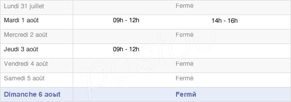 horaires d'ouverture de la Mairie De Chermisey