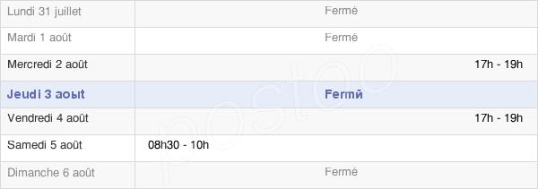 horaires d'ouverture de la Mairie De Sercoeur