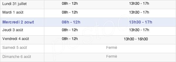 horaires d'ouverture de la Mairie De Charmes