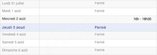 horaires d'ouverture de la Mairie De Belmont-Les-Darney