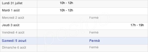 horaires d'ouverture de la Mairie De Frapelle