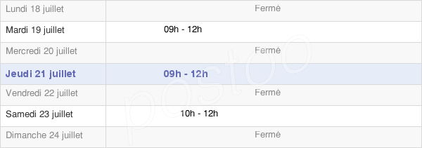 horaires d'ouverture de la Mairie De Bleurville