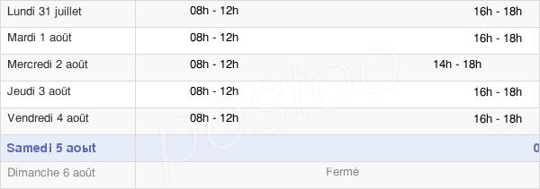 horaires d'ouverture de la Mairie De Raon-Aux-Bois