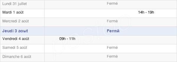 horaires d'ouverture de la Mairie De Vaudéville