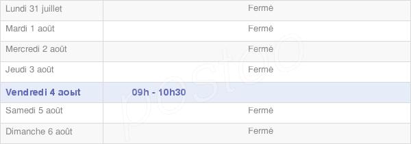horaires d'ouverture de la Mairie De Tournans