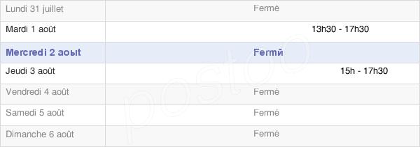 horaires d'ouverture de la Mairie De Soulce-Cernay