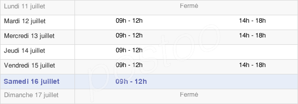 horaires d'ouverture de la Mairie De Saint-Sauveur