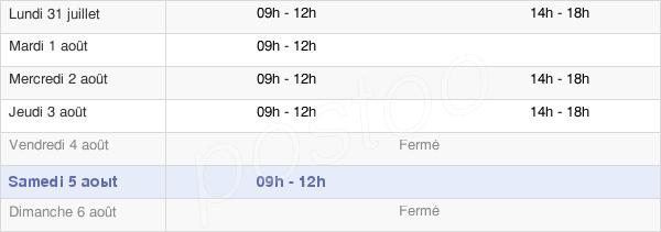 horaires d'ouverture de la Mairie De Merville