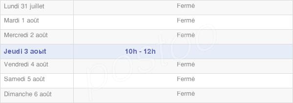horaires d'ouverture de la Mairie De Servin