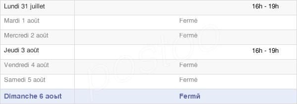 horaires d'ouverture de la Mairie D'Arguel