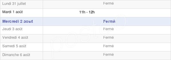horaires d'ouverture de la Mairie D'Abbenans