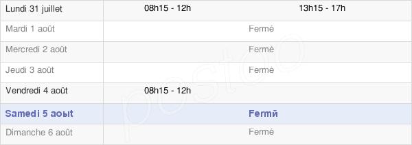 horaires d'ouverture de la Mairie De L'Hôpital-Du-Grosbois