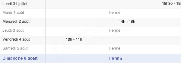 horaires d'ouverture de la Mairie De Meslières