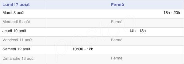 horaires d'ouverture de la Mairie De Roches-Lès-Blamont