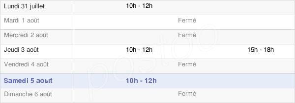 horaires d'ouverture de la Mairie De Lavernay
