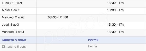 horaires d'ouverture de la Mairie De Chatillon-Le-Duc