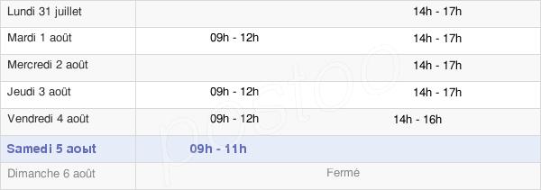 horaires d'ouverture de la Mairie D'Orchamps-Vennes