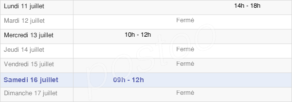horaires d'ouverture de la Mairie De Sancey-Le-Long