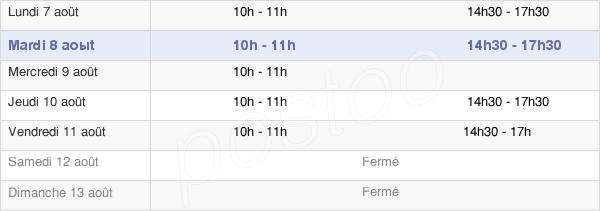 horaires d'ouverture de la Mairie D'Étouvans