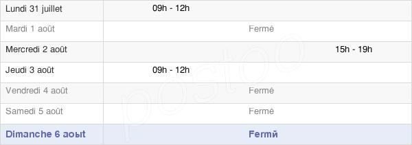 horaires d'ouverture de la Mairie De Torpes