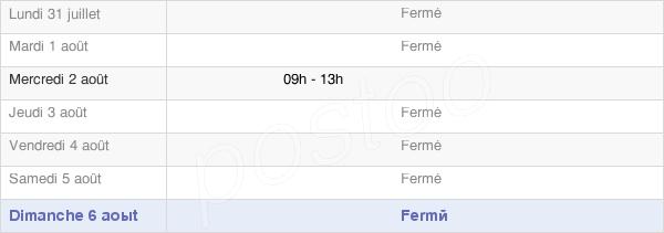 horaires d'ouverture de la Mairie De Froidevaux