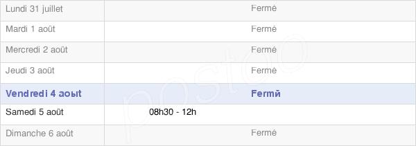 horaires d'ouverture de la Mairie De Bonnétage