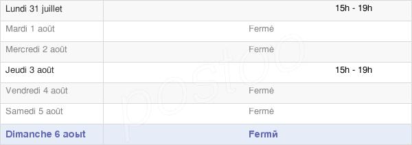 horaires d'ouverture de la Mairie De Vaux-Les-Près