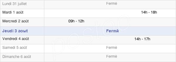 horaires d'ouverture de la Mairie De Beutal