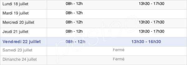 horaires d'ouverture de la Mairie D'Isle-Sur-Le-Doubs