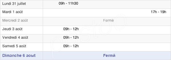 horaires d'ouverture de la Mairie De Naisey-Les-Granges