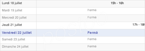horaires d'ouverture de la Mairie De Fourcatier-Et-Maison-Neuve