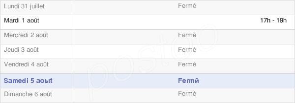horaires d'ouverture de la Mairie De Fertans