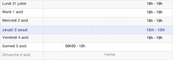 horaires d'ouverture de la Mairie De Roche-Lez-Beaupré