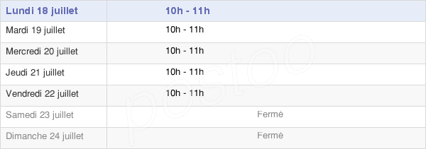 horaires d'ouverture de la Mairie D'Éternoz