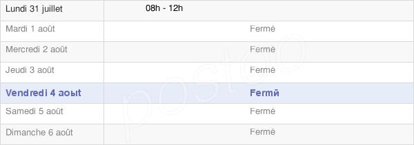 horaires d'ouverture de la Mairie De Côtebrune
