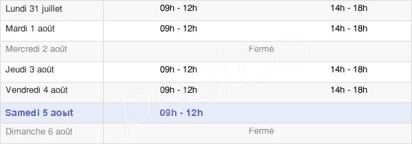 horaires d'ouverture de la Mairie De Laval-Le-Prieuré