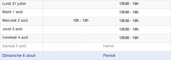 horaires d'ouverture de la Mairie De Pirey