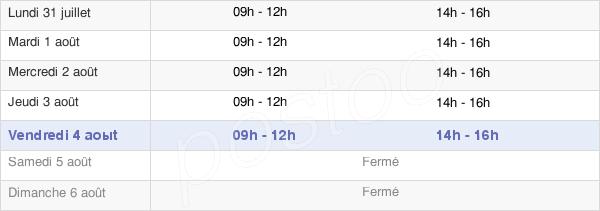 horaires d'ouverture de la Mairie De Flagey Amancey
