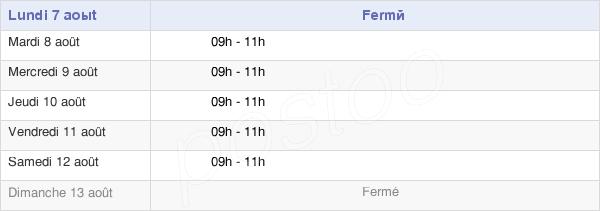 horaires d'ouverture de la Mairie De Lods