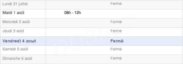 horaires d'ouverture de la Mairie De Grandfontaine-Sur-Creuse