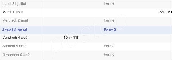 horaires d'ouverture de la Mairie D'Évillers