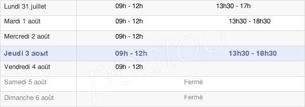 horaires d'ouverture de la Mairie De Belleherbe