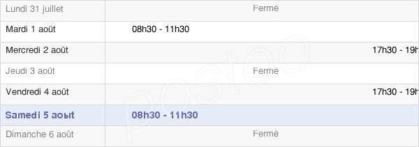 horaires d'ouverture de la Mairie De Montrond-Le-Château
