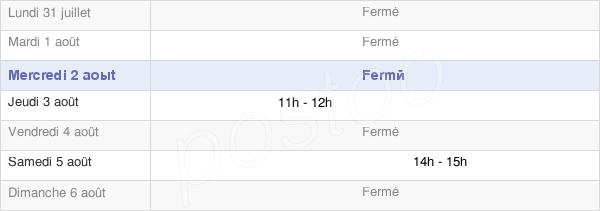 horaires d'ouverture de la Mairie De Crosey-Le-Petit