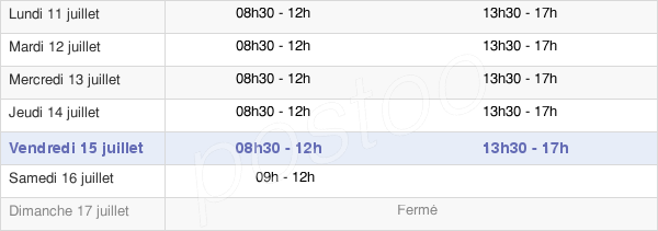 horaires d'ouverture de la Mairie De Nommay