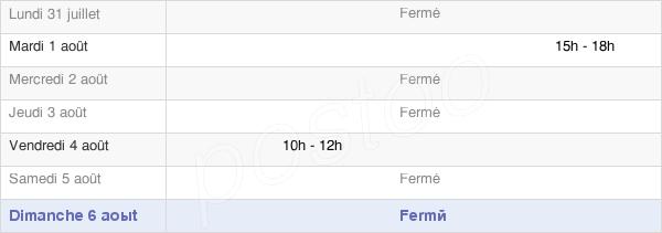 horaires d'ouverture de la Mairie De Burgille