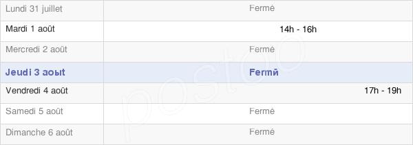 horaires d'ouverture de la Mairie De Chalèze