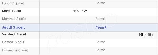 horaires d'ouverture de la Mairie De Vyt-Lès-Belvoir